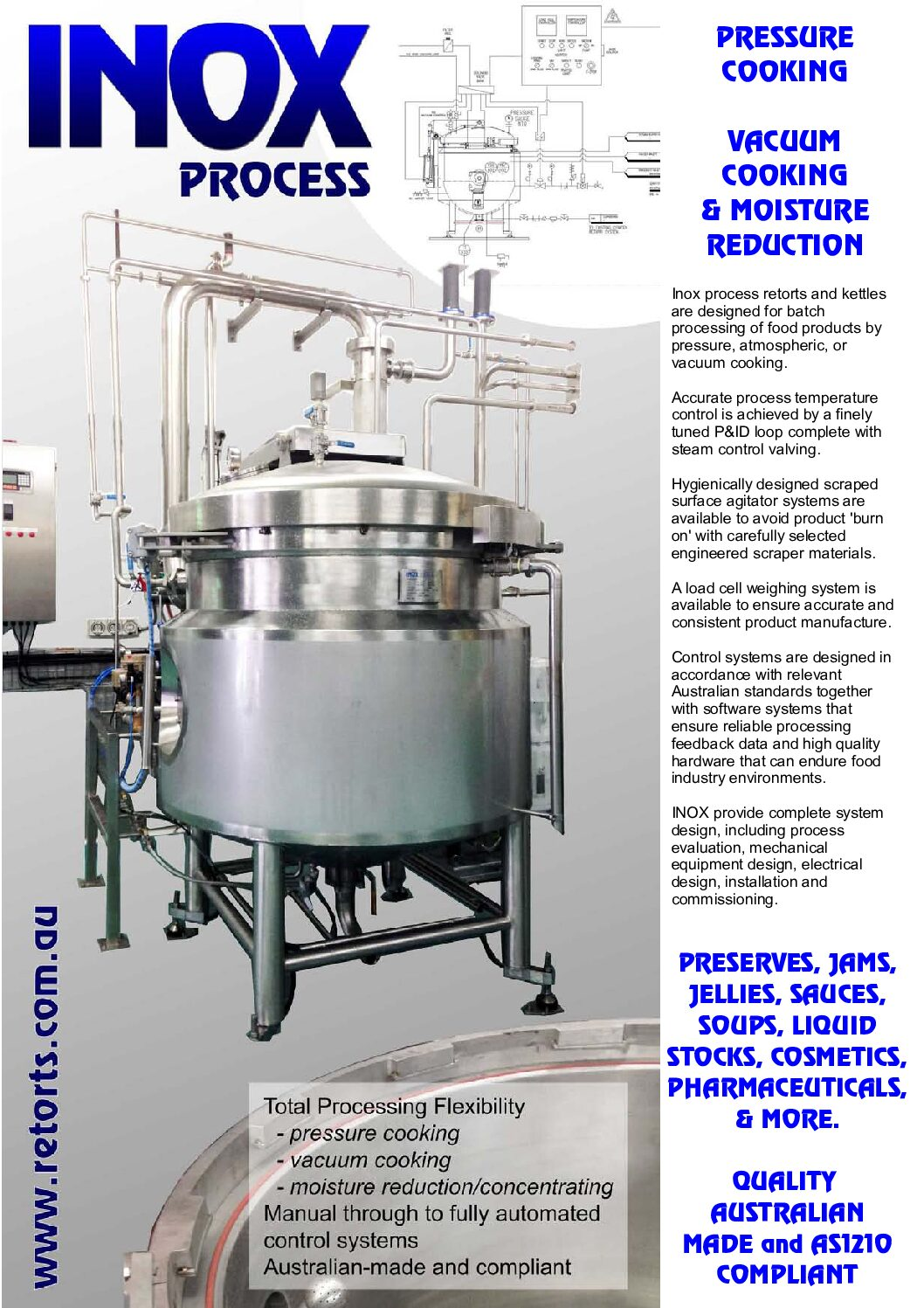 INOX Steam Jacketed Kettles