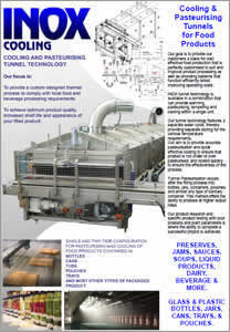 INOX Pasteurising & Cooling Tunnel Technology