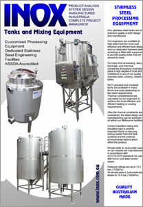 INOX Tanks, Vessels & Mixers